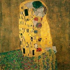 O Beijo, tela de Gustav Klimt.