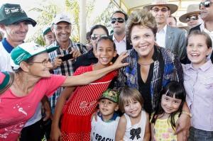 Presidenta Dilma em Cascavel, Paraná. (Foto: Roberto Stuckert Filho)