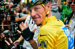 Lance Armstrong no auge da fama.