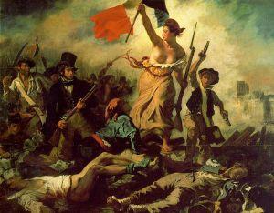 """La Liberté Guidant le Peuple"" (A Liberdade Guiando o Povo), pintura de 1830, de Eugène Delacroix."