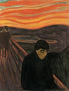 """""""Desespero"""", por Edvard Munch."""