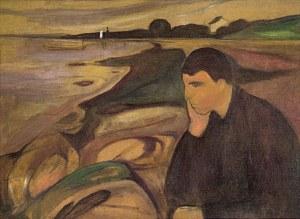 """""""Melancolia"""", pintura de Edvard Munch."""