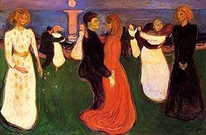 """""""A Dança da Vida"""", por Edvard Munch."""