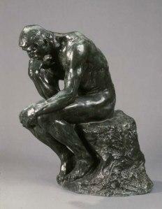 O Pensador, obra de Rodin.