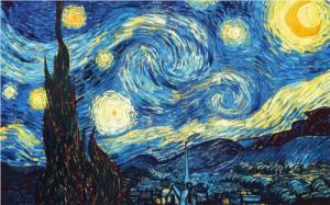 Noite estrelada, obra de Van Gogh.