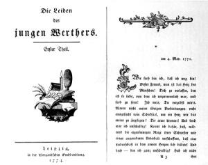 """Capa de """"Os Sofrimentos do Jovem Werther"""", ícone do romantismo, por Johann Wolfgang von Goethe."""