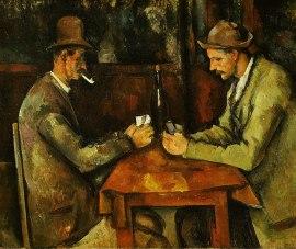 """""""Jogadores de Cartas"""", de Cézanne."""