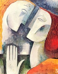 """""""Namorados"""", de Ismael Nery."""