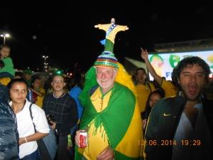 Torcedor na Copa do Mundo 2014.