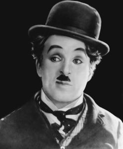 Chaplin como Carlitos.