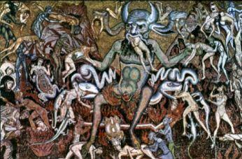 """""""Juízo Final: Inferno"""", Coppo di Marcovaldo."""