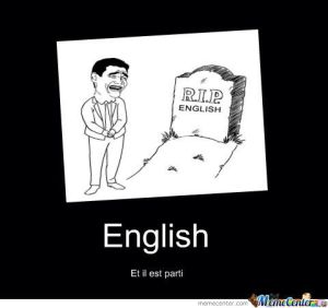 English-is-now-dead