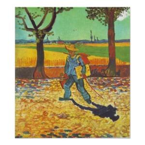 """Pintor na Estrada a Tarascon"", Vincent van Gogh."