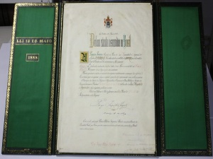 Original da Lei Áurea, de 1888 (Arquivo Nacional).