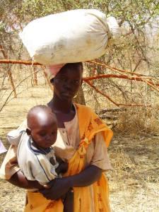 Mulher e criança da comunidade Nuba, no Sudão, onde Adriel trabalhou por alguns anos.
