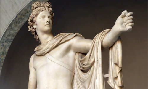 sculpture-portraying-greek-god-apollo