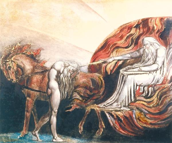 God Judging Adam 1795 by William Blake 1757-1827